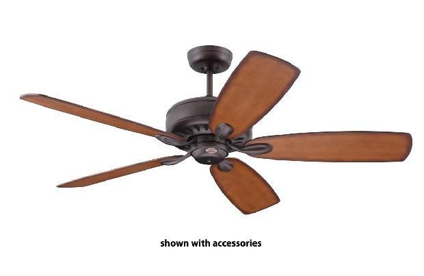 New 52 Orb Oil Rubbed Bronze Ceiling Fan With 4 Light Amber